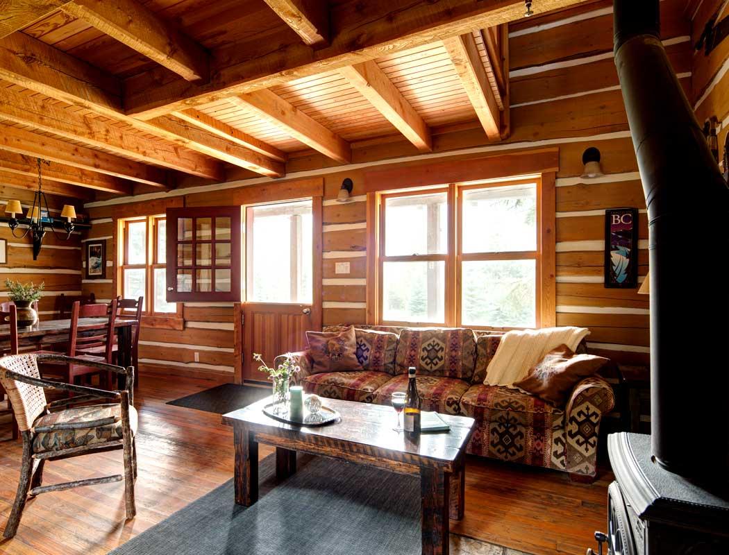 Cozy log cabins
